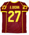 Antonio Brown Autographed Maroon College Style Jersey- JSA Witnessed Auth