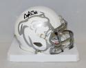 Dak Prescott Signed Mississippi State Bulldogs White Mini Helmet- JSA W Auth