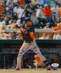Carlos Correa Autographed Houston Astros 8X10 At Bat Photo- JSA Witnessed Auth