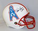 Warren Moon Autographed Houston Oilers ProLine Helmet W/ HOF- JSA Witnessed Auth