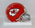 Len Dawson Autographed Kansas City Chiefs Mini Helmet W/ HOF- JSA Witnessed Auth