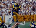 Eric Dickerson Autographed Los Angeles Rams 8x10 In Air Photo W/ HOF- JSA W Auth