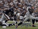Lamar Miller Autographed *Blue Houston Texans 8x10 Running Photo- JSA W Auth