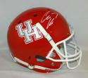 Case Keenum Signed University of Houston Cougars F/S Red Helmet- JSA W Auth *White