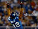 Michael Strahan Autographed New York Giants 16x20 Arms In Air Photo- JSA W Auth