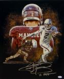 Johnny Manziel Autographed 16x20 A&M Heisman Trophy Photo W/ Heisman- JSA W Auth