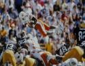 Barry Sanders Autographed *Blue OSU Cowboys 16x20 Leaping Photo- JSA W Auth
