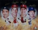 Berra, Bench, Fisk & Carter Autographed HOF Catchers 16x20 Photo Steiner Auth