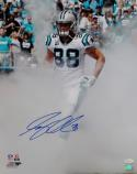 Greg Olsen Signed *Blue Carolina Panthers 16x20 In Smoke PF Photo- JSA W Auth