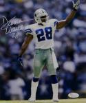 Darren Woodson Autographed *White Dallas Cowboys 8x10 Pointing Photo- JSA W Auth