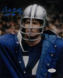 Bob Lilly Signed Dallas Cowboys 8x10 Wearing Jacket Photo With HOF- JSA W Auth
