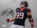 JJ Watt Autographed Houston Texans 8x10 Yelling Horizontal Photo- JSA W Auth