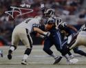 Aaron Donald Autographed 8x10 Rams Against Saints *White Photo- JSA W Auth