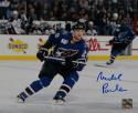 Michael Pivonka Signed Capitals 8x10 Blue Jersey Photo- Jersey Source Auth