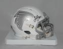 Julio Jones Autographed Atlanta Falcons ICE Speed Mini Helmet- JSA W Auth