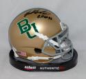Mike Singletary Signed Baylor Bears Gold Schutt Mini Helmet W/ CHOF- JSA W Auth