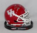 Case Keenum Signed Houston Cougars Red Schutt Mini Helmet- JSA W Auth *Silver