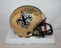 Morten Andersen Autographed New Orleans Saints Mini Helmet W/ HOF- JSA W Auth