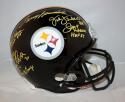Lambert / Greene / Bradshaw / Ham / Bleier Autographed  Steelers F/S Helmet-JSA