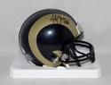 Marshall Faulk Autographed St. Louis Rams 00-16 TB Mini Helmet- JSA W Auth