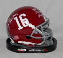 Jonathan Allen Alabama Crimson Tide Schutt Mini Helmet W/ N. Champ- SGC Auth