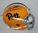 Tony Dorsett Signed PIttsburgh Panthers TB Schutt Mini Helmet w/ Heisman JSA-W
