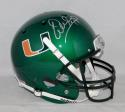 Warren Sapp Autographed MIami Hurricanes Green Full Size Helmet JSAW Auth Silver