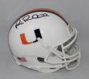 Michael Irvin Autographed Miami Hurricanes Schutt Mini Helmet- JSA W Auth