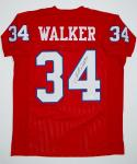 Herschel Walker Autographed Red Pro Style Jersey- JSA W Authenticated