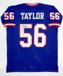 Lawrence Taylor Autographed Blue Pro Style Jersey- JSA Witnessed Auth *Blk-Top