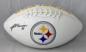 James Harrison Autographed Pittsburgh Steelers Logo Football- JSA W Auth
