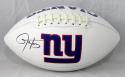 Lawrence Taylor Autographed NY Giants Logo Football- JSA W Auth