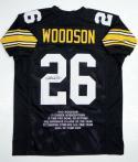 Rod Woodson Autographed  Black Pro Style Stat1 Jersey- JSA W Authenticated