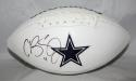Cole Beasley Autographed Dallas Cowboys Logo Football- Fanatics Authentic