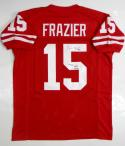 Tommie Frazier Autographed Red College Style Jersey W/ Nat'l Champs- JSA W Authenticated