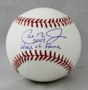 Cal Ripken Jr Autographed Rawlings OML Baseball W/ Hall  of Fame- JSA Authenticated