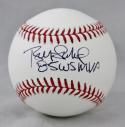 Bret Saberhagen 85 WS MVP Autographed Rawlings OML Baseball- JSA Witness Auth *Black
