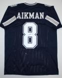 Troy Aikman Autographed Navy Dbl Stitch Pro Style Jersey- JSA Witnessed Auth