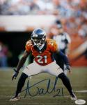 Aqib Talib Autographed Broncos 8x10 Orange Jersey Photo- JSA Witness Auth