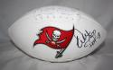 Warren Sapp Autographed Tampa Bay Buccaneers Logo Football W/ HOF *R- JSA W Auth