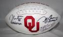 White, Owens, Simms Autographed OU Sooners Logo Football W/ Heisman- JSA W Auth