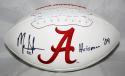 Mark Ingram Autographed Alabama Crimson Tide Logo Football W/ Heisman- JSA W Auth