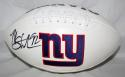 Michael Strahan Autographed New York Giants Logo Football- JSA W Authenticated