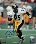 Greg Lloyd Autographed Steelers 8x10 Running Photo PF - JSA Authenticated