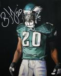 Brian Dawkins Autographed Eagles 16x20 Black Background Photo- JSA Witness Auth