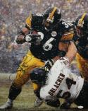 Jerome Bettis Autographed Pittsburgh Steelers 16x20 Running Over Urlacher Photo- JSA W Auth