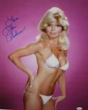 Loni Anderson Autographed 16x20 in Bikini - JSA Witness Authenticated