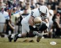 Paul Posluszny Autographed 8x10 Penn State Butkus Award Insc Photo- JSA Witness Authenticated
