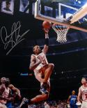 Dennis Rodman Autographed 16x20 Lay Up White Jersey Photo- JSA W Auth