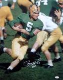 Paul Hornung Autographed Notre Dame 16x20 Color Photo W/ 56 H- JSA W Auth